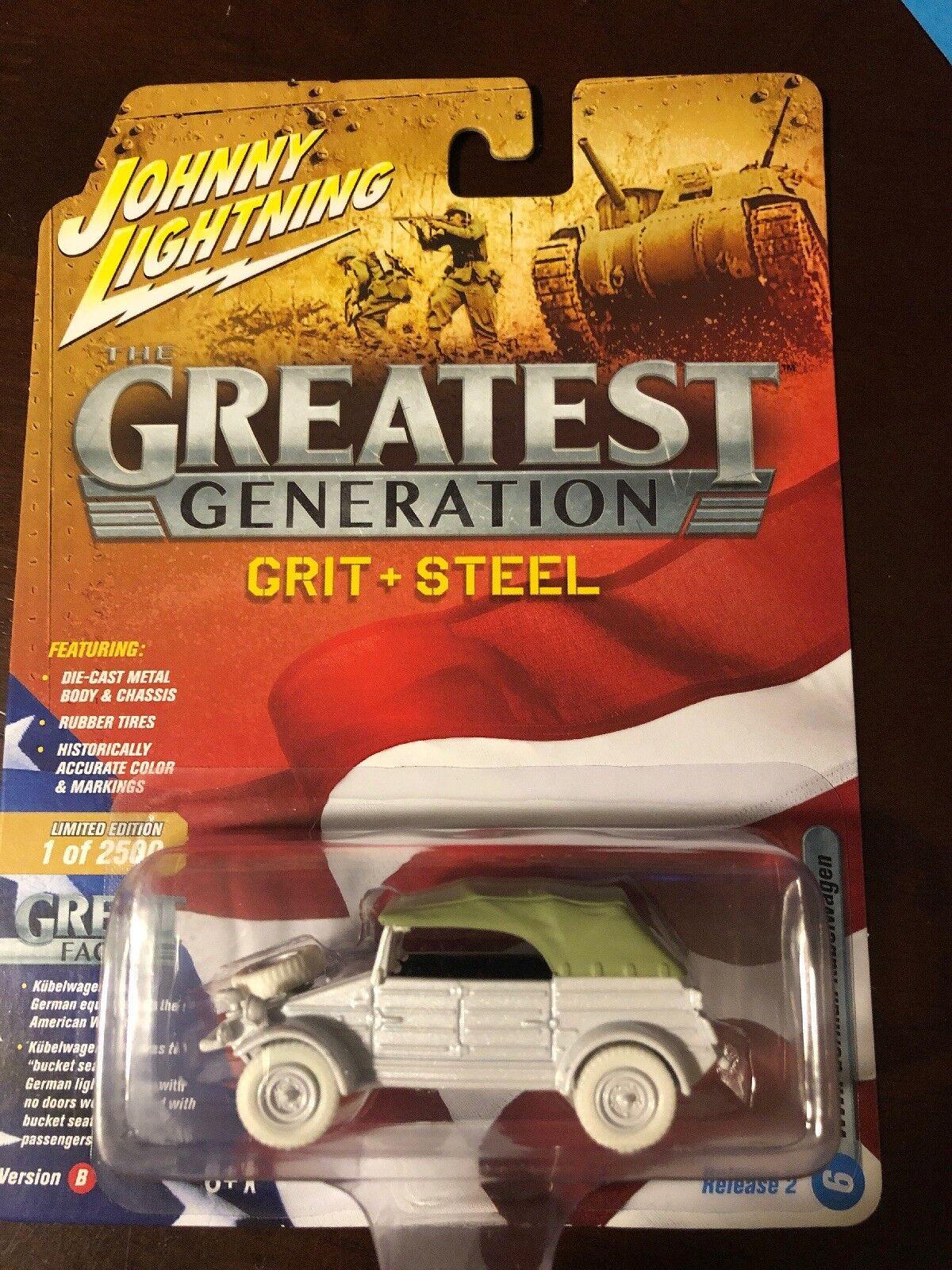 Johnny Lightning White Lightning Greatest Generation WWII German Kubelwagon