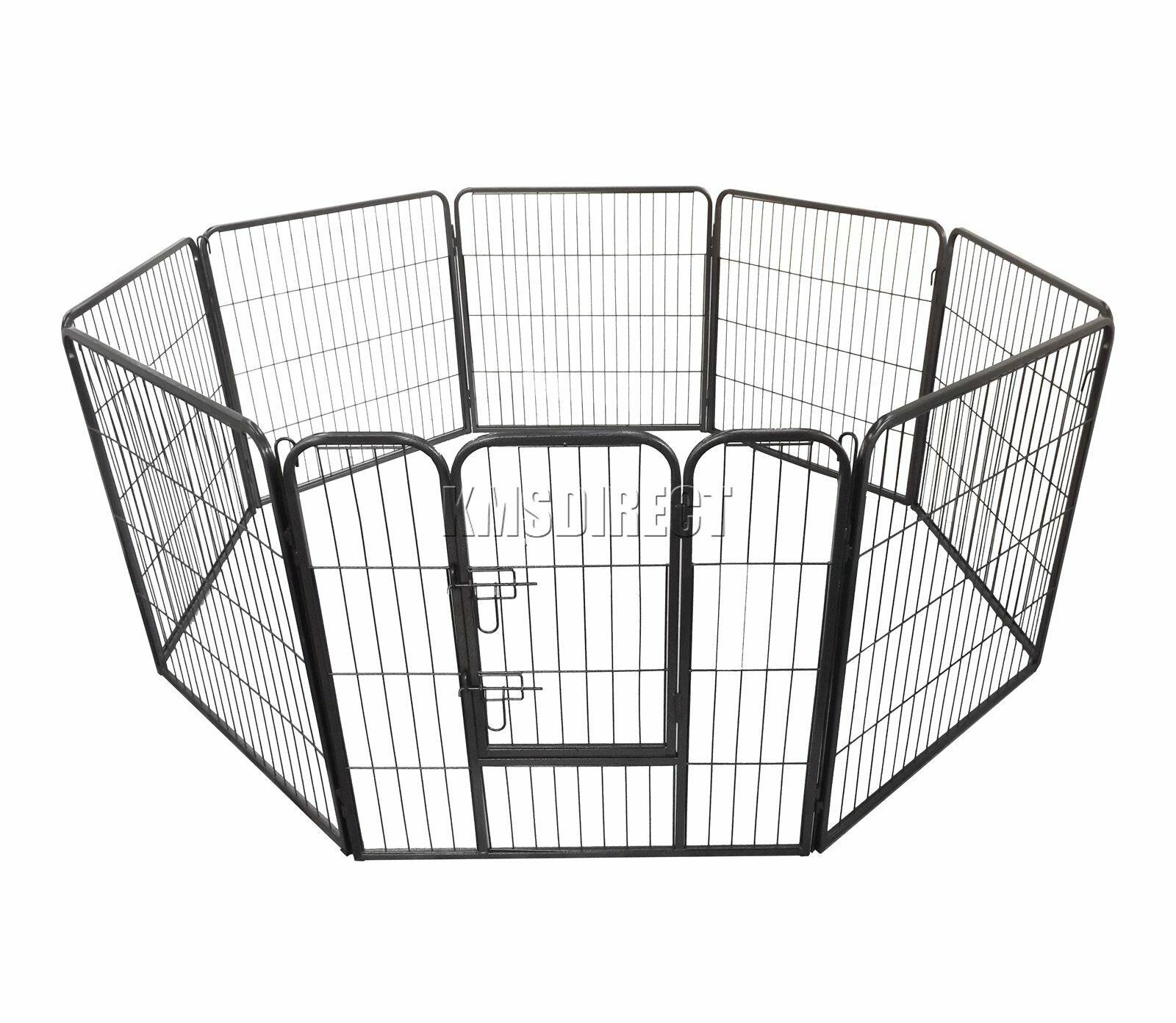 RIPARO Heavy Duty 8 lati Pet Gioco Penna Dog Puppy Cage Gabbia sessione di allenamento META