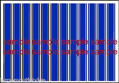 1:64 SCALE HOT WHEELS LONG RACING STRIPES STRIPE BLACK WATERSLIDE DECALS