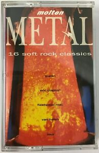 Molten Metal - 16 Soft Rock Classics - 1990 Telstar Audio Cassette Album - New