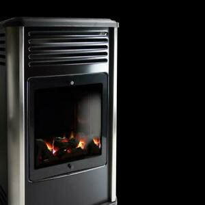 flame effect portable gas heater