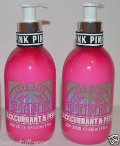 4ecd14e7be LOT OF 2 VICTORIA S SECRET PINK BLACK CURRANT PEONY BODY LOTION HAND ...