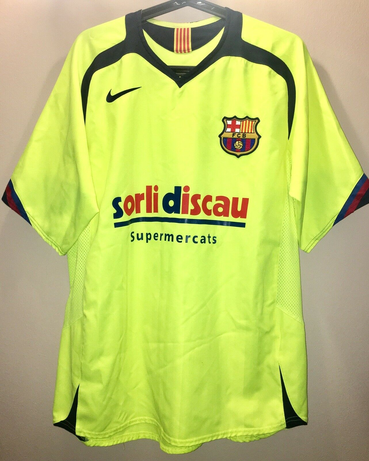 CAMISETA SHIRT FC BARCELONA MATCH WORN SECCION HOKEY PATINES 2005-06