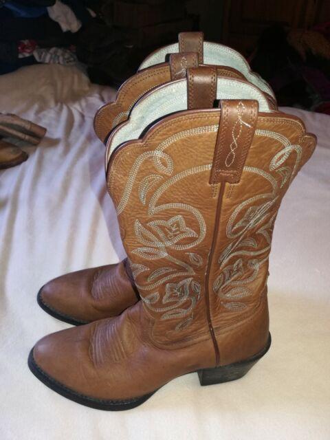 Ariat Womens Heritage R Toe Cowboy Western Boot Brown 6.5B