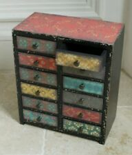 Set Of 2 Moroccan Cabinet Drawers Storage Chest Colour 12 Drawers