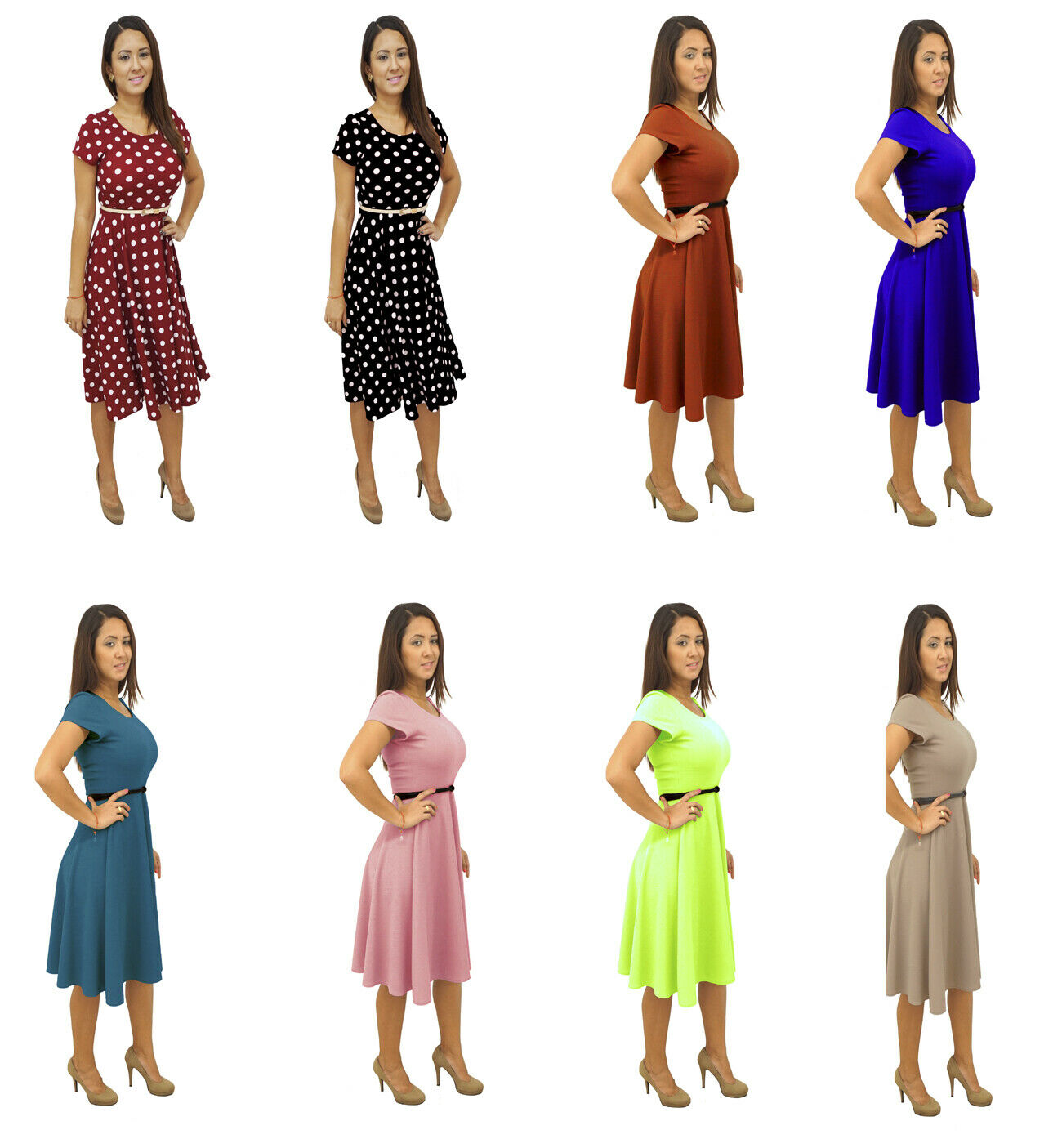 f04a9d50d92c8 Short Sleeves V-Neck Women's Party Dresses Regular Plus Sizes Made in USA