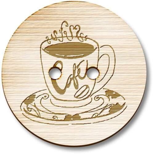 """Taza de café/"""" /""""Botones Madera BT013751"""