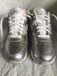 Details about Nike Air Max 90 Premium Leather GS 724871 100 Sz 5.5Y
