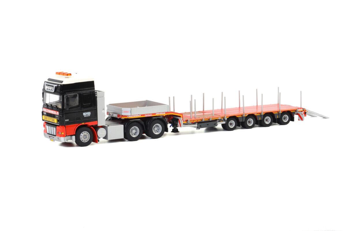 WSI 1 50 Multiwheels DAF XF-95 & Nooteboom Extending 4-Axle Low Loader