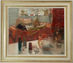 Female-Nude-Original-Oil-Painting-by-Ken-Howard-R-A-British-1932