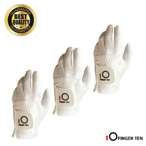 Men-039-s-Golf-Gloves-Rain-Grip-Worn-on-Left-Hand-Value-3-Pack-Washable-Microfiber