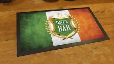 Personalised Golden Crest Beer Festival Beer Label Irish Flag bar runner mat