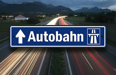 Garage // Pub  // Travel Art Fart Sign FARTKONTROL Danish Autobahn Plaque