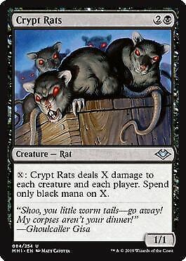 Modern Horizons MTG Magic Crypt Rats Foil Near Mint Uncommon