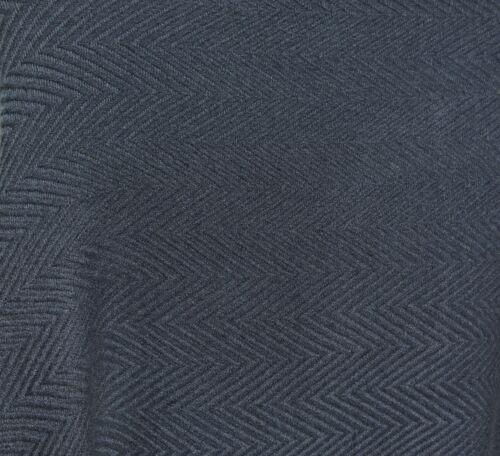 100/% Cashmere|Shawl|4 Ply|Hand Loomed|Nepal|Wide Herringbone|Deep Ocean