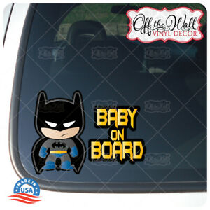 Little-Batman-Character-034-Baby-Kid-or-Kids-on-Board-034-BUYERS-CHOICE-Sign-D2