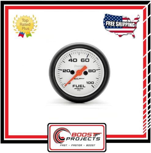 "AutoMeter 0-100 PSI Fuel Pressure Phantom Analog Gauge 2-1//16/"" 5763 *"