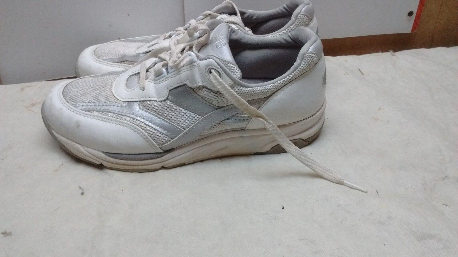 SAS Tri Pad Comfort Women Leather White Lace Up Sport Sneaker Walking shoes 8.5M
