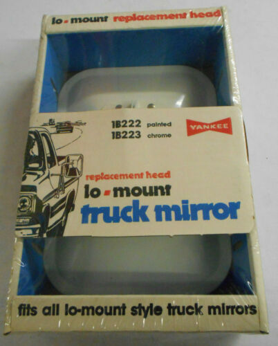Universal Lo-mount NOS Made in USA - White Yankee Vintage Truck Mirror New