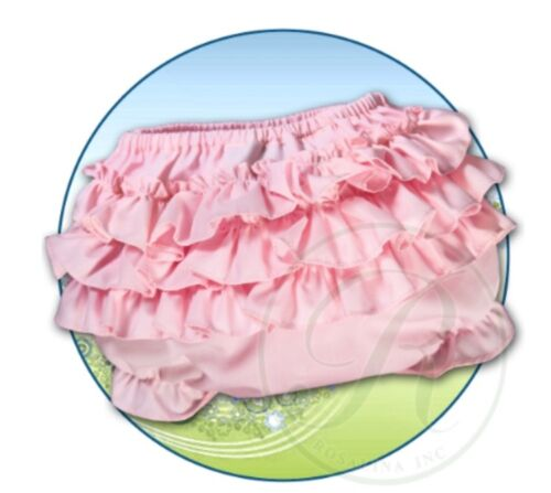 NEW PINK RUFFLE COTTON DIAPER COVER RUMBA PANTIES BLOOMERS 3M 6M 12M 18M 24M