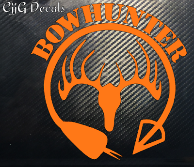 Deer Hunting Decal Sticker Outdoor Crossbow Bow Arrow Rifle Car Truck Military