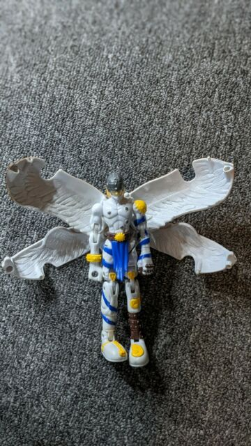 Angemon Digimon Figure Transforming ( Missing Staff And 2 Wings/Ears )