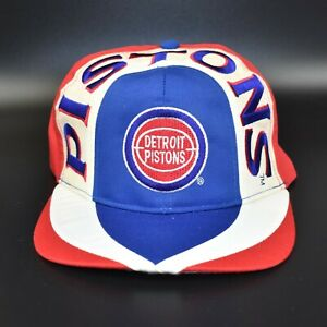 Detroit-Pistons-Vintage-90-039-s-NBA-Twins-Enterprise-Adjustable-Snapback-Cap-Hat