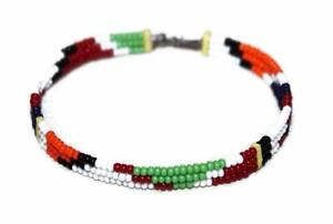 AFRICAN-MAASAI-MASAI-BEADED-ETHNIC-TRIBAL-WIRE-BRACELET-MADE-IN-KENYA-T06