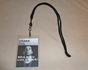 Drake would you like a tour vip all access backstage pass lanyard image is loading drake would you like a tour vip all m4hsunfo
