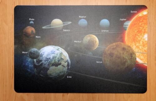 Schreibtischunterlage Erde Sonne Mond Venusn Mars Jupiter Saturn Planeten 40x60