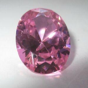 1 Cz 14 X 9 Mm Rosa Oval, Facettenschliff Cubic Zirkonia Synthetische Edelsteine
