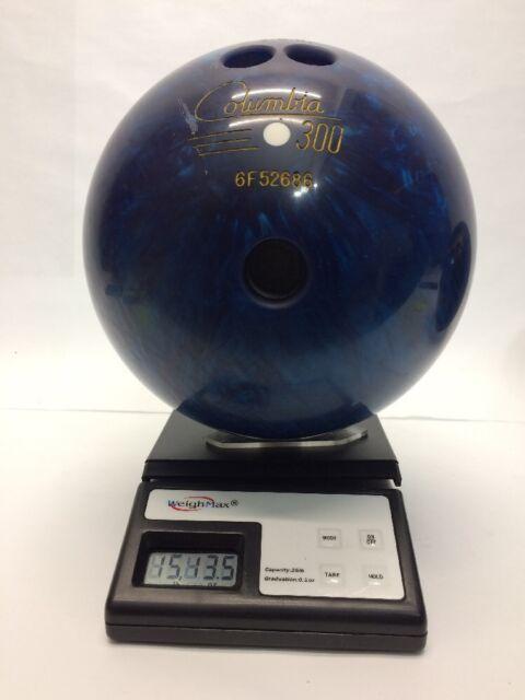 COLUMBIA 300 BOWLING BALL 15 Lb 12 Oz WHITE DOT USBC PBA PRO RARE TITANIUM 16