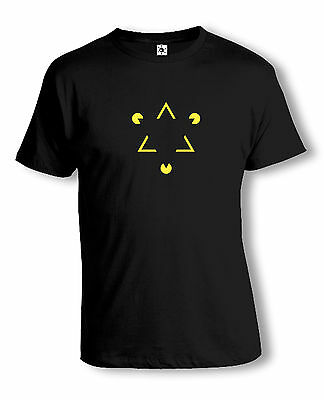 Op-Art Dreieck T-Shirt | Psychedelic | Acid | Techno | verschiedene Farben
