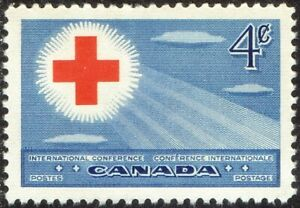 1952 CANADA RED CROSS INTERNATIONAL CONFERENCE 4¢ STAMP, MINT MNH, Scott #317