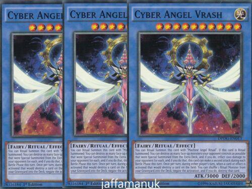 Common 1st Edition Yu-Gi-Oh DPDG-EN013 Cards 3 x Cyber Angel Vrash