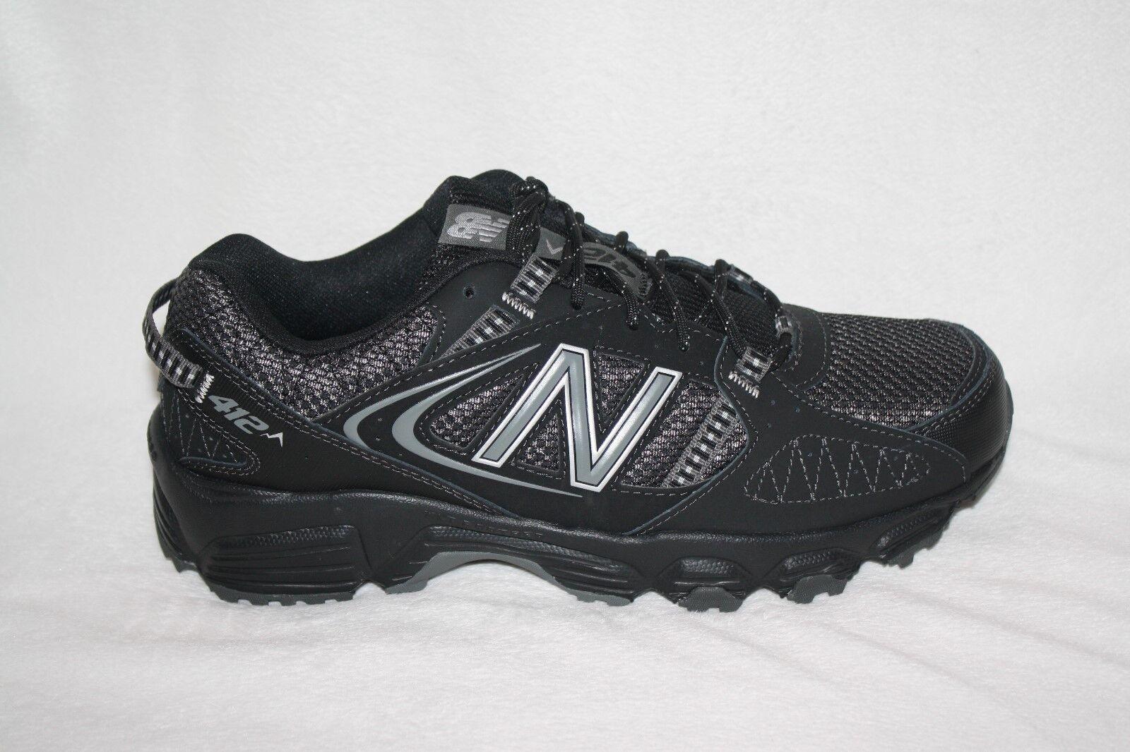 MENS NEW BALANCE 412 schwarz schwarz schwarz TENNIS schuhe US Größe 8 4E (K49) 1f0821