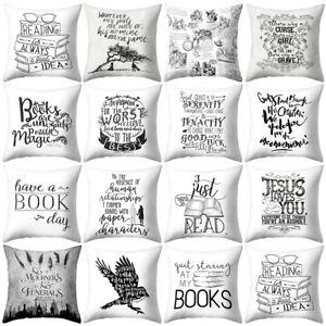 FJ-AS-LX-New-Black-White-English-Alphabet-Quotes-Pillow-Case-Cushion-Cover-Ho