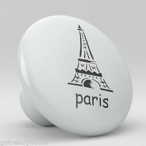 Paris Eiffel Tower Ceramic Knobs Pulls Kitchen Drawer Cabinet Vanity Closet 324 Riche En Splendeur PoéTique Et Picturale