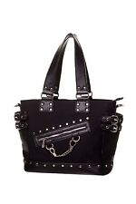 Banned Apparel Handcuff Punk Goth Rockabilly Tattoo Handbag Purse Bag BBN799BLK