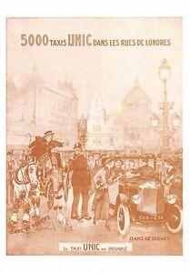 Sepia Postcard Ads Advertising Automobile Taxis Unic Edit 3615 PUB22