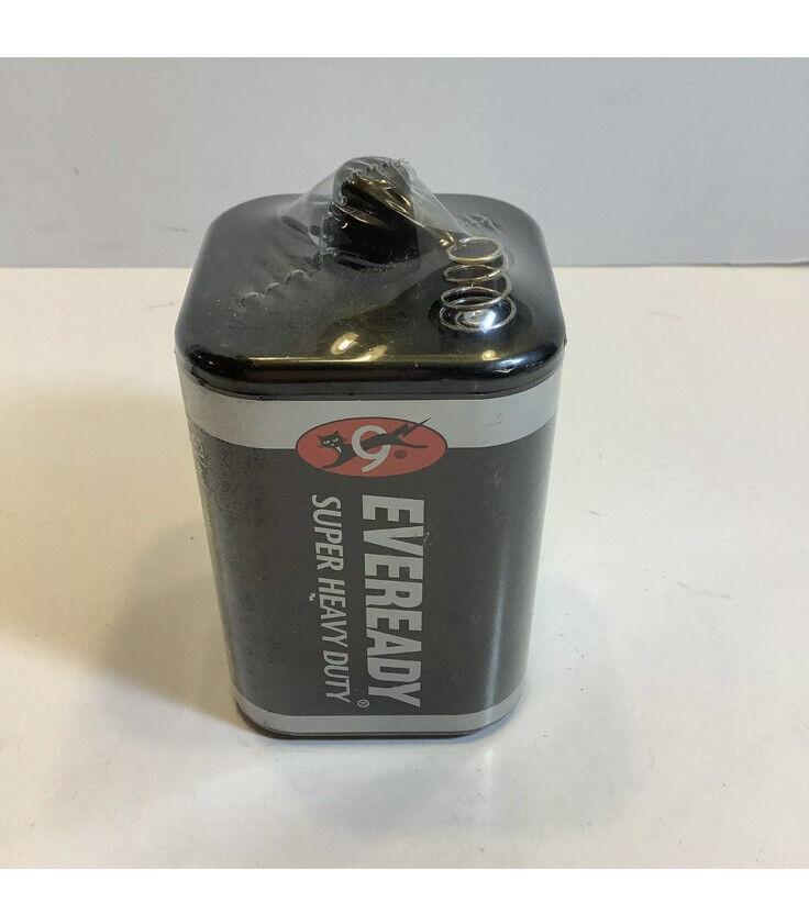 Eveready 1209 Super Heavy Duty Lantern Battery, Spring Terminal, 6V New Sealed