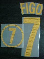 RETRO! FIGO #7 Portugal Home EURO 2004 PU Name + Numbering