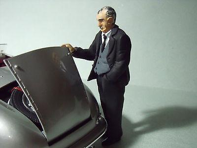 100% Vero Figurine 1/18 Ferry Porsche Pour 356 911 917 928 Vroom A Peindre