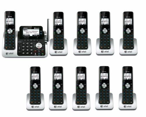 AT/&T TL96271 DECT6.0 Cordless Bluetooth to Cell Phone 10 Handset Phone System