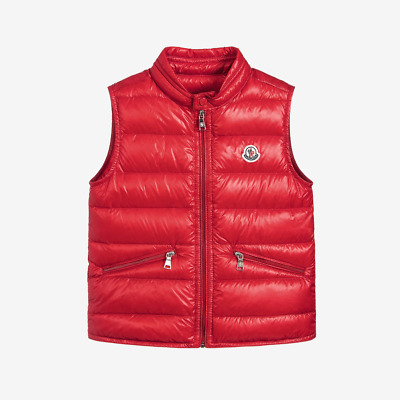 fb458a0bf Moncler for Kids 'Gui' Padded Down Gilet - Red | eBay