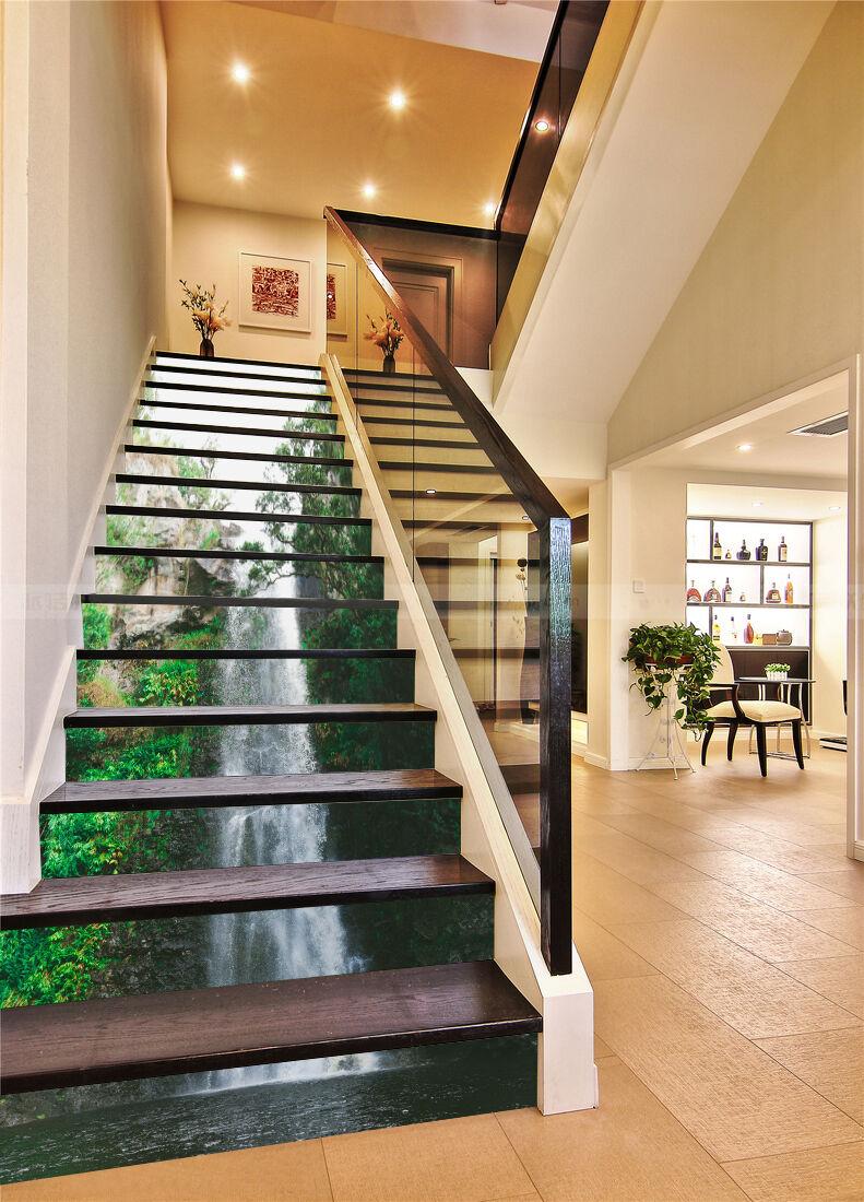 3D Leaf falls 354 Stair Risers Decoration Photo Mural Vinyl Decal Wallpaper AU