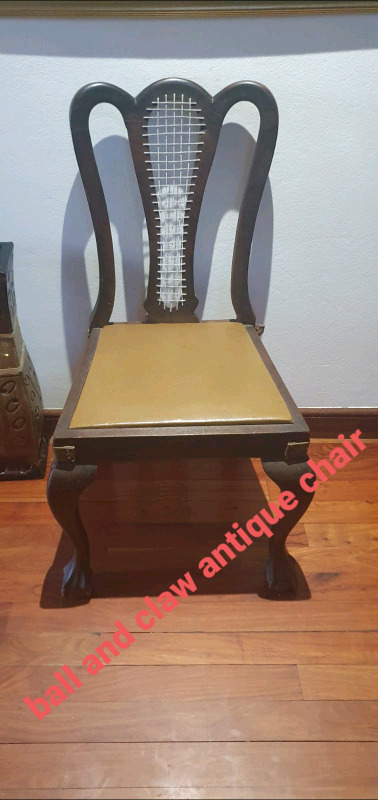 Ball and claw antique chair