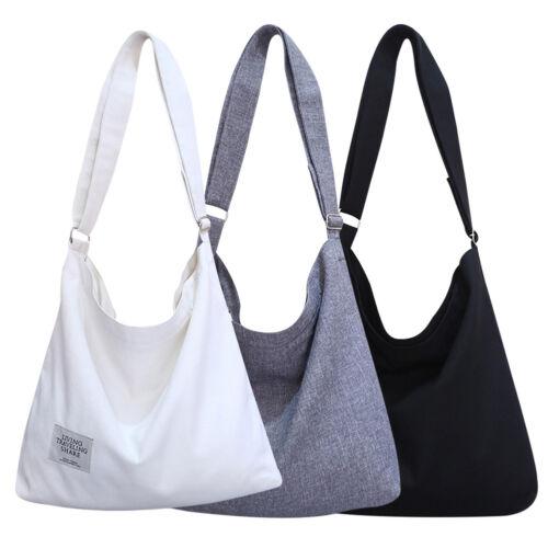 Women Canvas Crossbody Hobo Zipper Adjustable Bag Large Tote Shoulder Purse