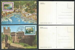 1974 Italia Cartolina Fdc Maximum Turistica - Bf