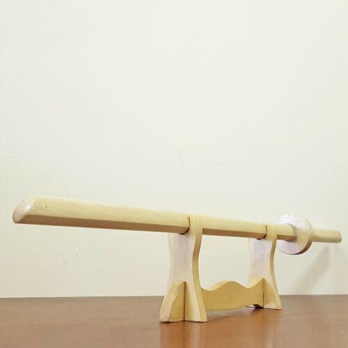 European Hornbeam Wooden bokken Japanese sword Kashima Shin Ryu with tsuba